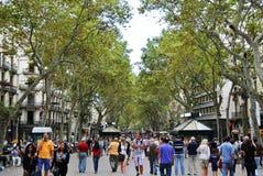 La Rambla, Barcellona Immagini Stock Libere da Diritti