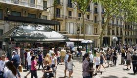 La Rambla, a Barcellona, la Spagna immagine stock
