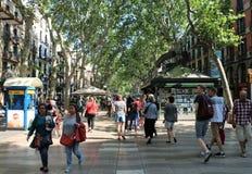 La Rambla, Barcelona stockbilder