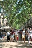 La Rambla, Barcelona stockbild
