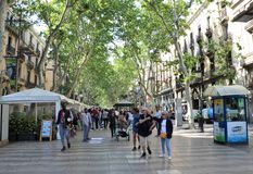 La Rambla, Barcelona lizenzfreies stockfoto