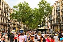 La Rambla, Barcelona Arkivbilder