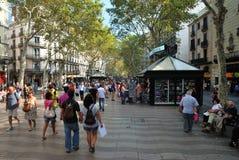 La Rambla, Barcelona Stock Fotografie