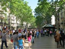 La Rambla in Barcelona Royalty-vrije Stock Afbeeldingen