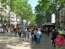 La Rambla in Barcelona Stock Foto