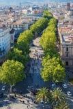 La Rambla Barcelona Royalty Free Stock Photography