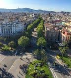 La Rambla Barcelona Royalty Free Stock Photo