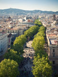 La Rambla in Barcelona Royalty Free Stock Photo