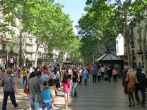 La Rambla in Barcelona Royalty Free Stock Images