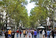 La Rambla, Barcelona Royalty Free Stock Images
