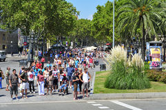 La Rambla, in Barcelona, Spain Stock Image