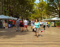 La Rambla in Barcelona Royalty Free Stock Photography