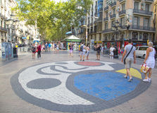 La Rambla in Barcelona, Spain Royalty Free Stock Photography