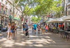 La Rambla in Barcelona, Spain stock images