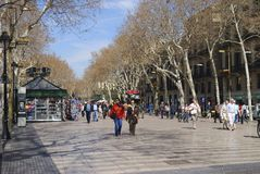 La Rambla. Barcelona. Spain Royalty Free Stock Photos