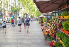 La Rambla in Barcelona, Spain Stock Image
