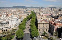 La Rambla in Barcelona, Spanje Royalty-vrije Stock Afbeelding