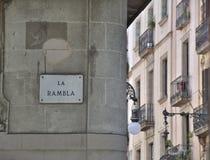 La Rambla in Barcelona Stock Image