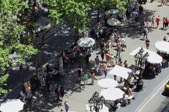 La Rambla-Boulevard Barcelona, Spanien Lizenzfreie Stockfotografie