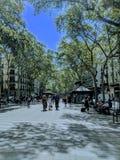 La rambla de Barcelone photos stock