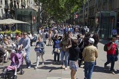 La Rambla en Barcelona, España Imagenes de archivo