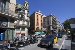 La Rambla en Barcelona, España Fotos de archivo