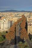 La Rambla en décembre, Barcelone, Catlonia, Espagne Images libres de droits