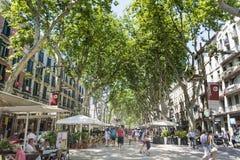 La rambla Espagne de Barcelone photo stock