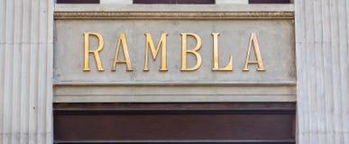 La Rambla Royalty Free Stock Images