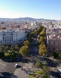 La Rambla i Barcelona Fotografering för Bildbyråer