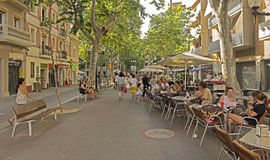 La Rambla Poblenou Royalty Free Stock Photo