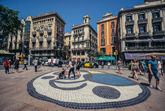 La Rambla Street Stock Photo