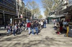 La Rambla street, in Barcelona Royalty Free Stock Image