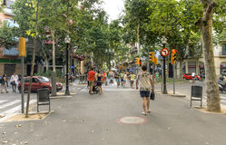 La Rambla street Royalty Free Stock Images