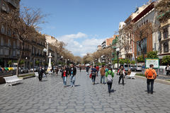 La Rambla in Tarragona, Spain Royalty Free Stock Photos