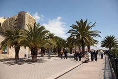 La Rambla in Tarragona, Spain Stock Photo