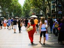La Rambla van Barcelona Stock Fotografie