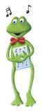 La rana del canto Imágenes de archivo libres de regalías
