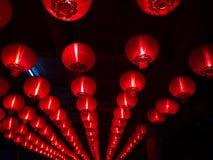 La rangée de modèle de la lanterne du Chinois pendant la nouvelle année chinoise images libres de droits