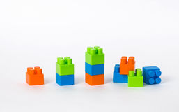 La rangée des blocs, formant un graphique, le bas de bout est browken Image stock
