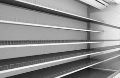 La rangée du supermarché rayonne le plan rapproché Photographie stock libre de droits