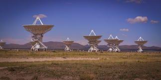 La rangée très grande célèbre de VLA près de Socorro New Mexico Images stock