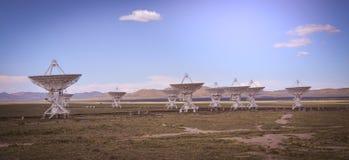 La rangée très grande célèbre de VLA près de Socorro New Mexico Image libre de droits