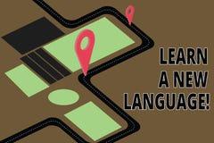 La rappresentazione del segno del testo impara una nuova lingua E royalty illustrazione gratis