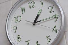 La rappresentazione dell'orologio one-fifteen il tempo Fotografia Stock Libera da Diritti