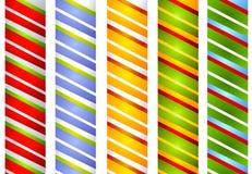 La raya del bastón de caramelo confina 2 Imagen de archivo libre de regalías