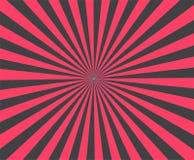 La raya moderna irradia el fondo rojo ejemplo del brust del vector Imagenes de archivo