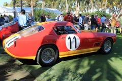 la raza de los años 50 preparó la vista lateral de Ferrari Imágenes de archivo libres de regalías