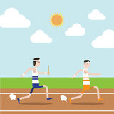 La raza de retransmisión en pista Imagenes de archivo