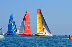 La raza 2014 - del océano de Volvo Alicante 2015 Imagenes de archivo
